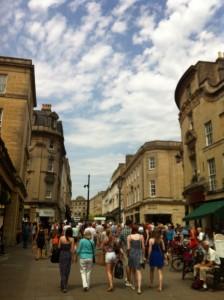 Salah satu sudut kota Bath.
